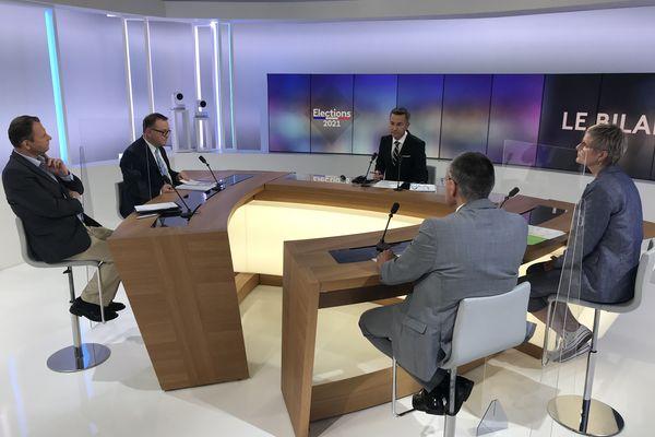 La présidente sortante PS du conseil départemental de Meurthe-et-Moselle a débattu face à trois opposants de la droite et du centre.