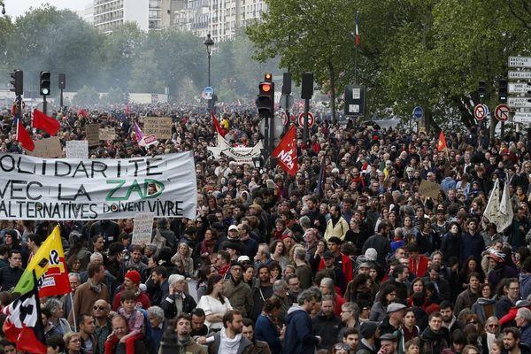 Le défilé parisien du 1er mai 2018 avait vu défiler environ 14 500 manifestants selon les chiffres communiqués par la police.