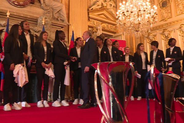 La ville de Lyon accueille ses championnes dans les salons de la mairie