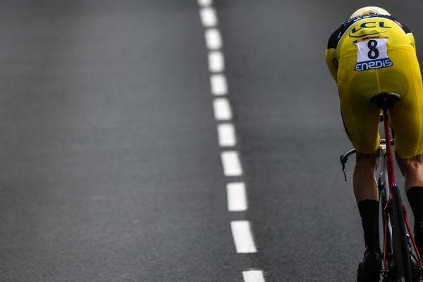 Le coureur britannique Geraint Thomas lors de la 20e étape du Tour de France 2018, le 28 juillet 2018.