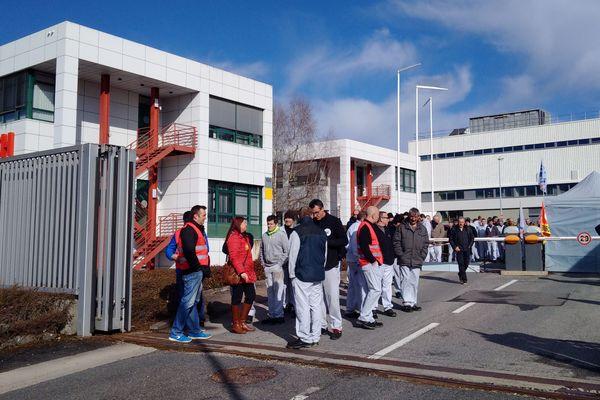 Blocage de l'usine Bosch à Onet-le-Château lundi 19 mars.