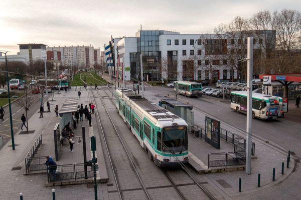 Le tramway T1, en janvier 2016.