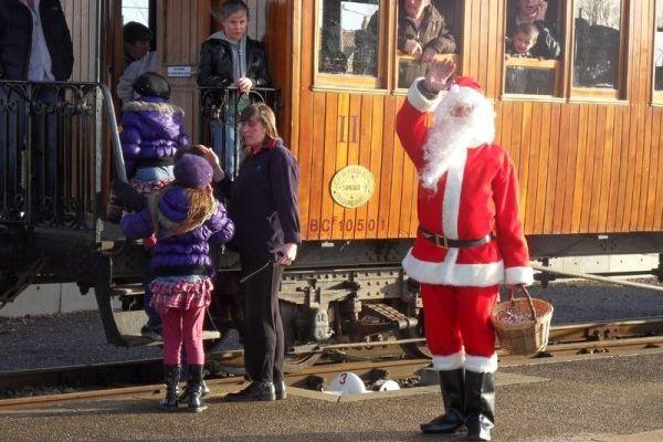 Le Père Noël du Petit Train Vapeur de la Baie de Somme