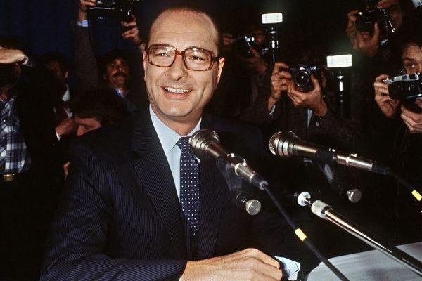 Jacques Chirac en février 1981. Il était alors maire de Paris et candidat à la présidentielle.