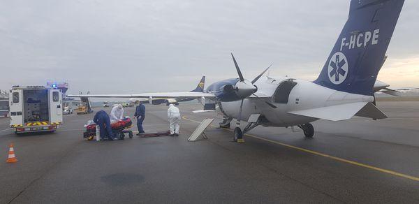 Vendredi 5 février, deux malades covid vont quitter la Franche-Comté par avion pour des transferts vers la région parisienne.