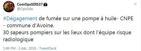 Tweet SDIS 37