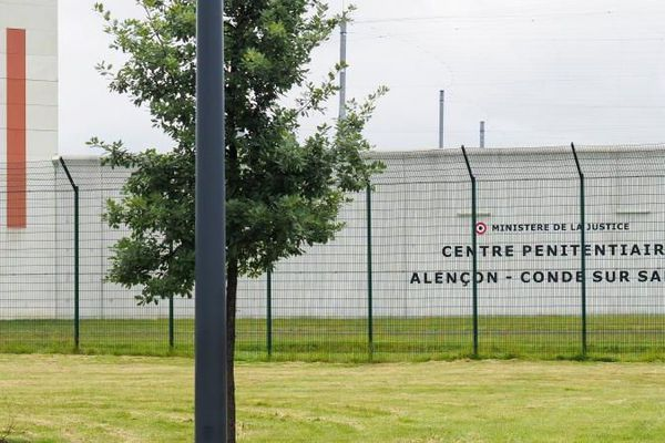 La prison de Condé-sur-Sarthe (Orne), le 12 juin 2019, où était détenu le jihadiste français Flavien Moreau à la fin de sa peine
