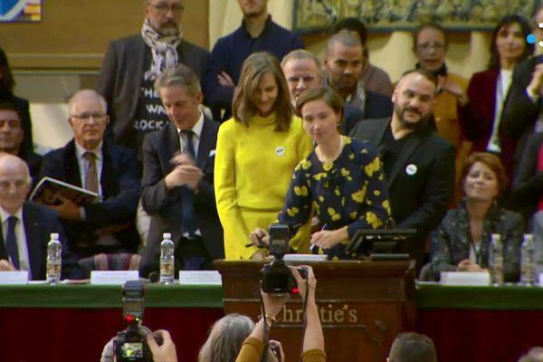 Cécile Verdier, la présidente de Christie's France pour la vente de la pièce des Présidents en novembre 2019