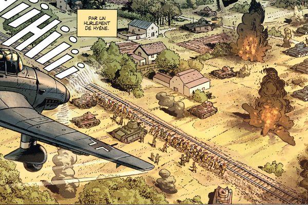 """Extrait de la bande-dessinée """"Dunkerque - mai 1940"""" de Thierry Gloris, Dimitri Fogolin et Ramon Marcos"""