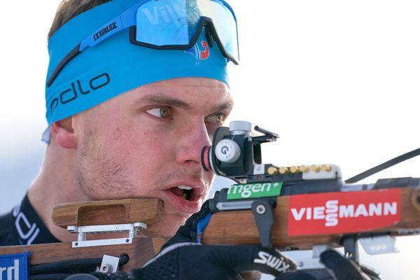Emilien Jacquelin à Hochfilzen le 15 décembre.