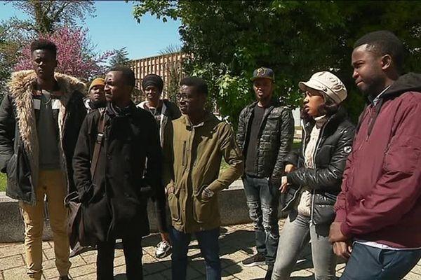 Conférence de presse des victimes d'injures racistes à l'Université de Lorraine.