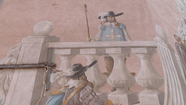 Les mousquetaires devant le château Peiresc