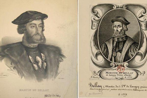 Deux portraits de Martin Du Bellay.