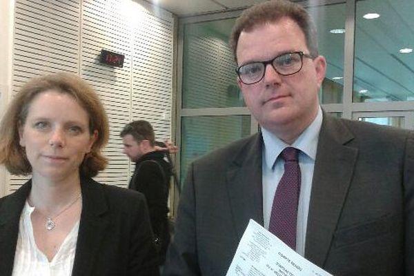 Amélie Dhalluin et Bertrand Plouvier, élus Les Républicains, ont porté plainte suite à l'agression dont ils ont été victimes mercredi 29 mars.