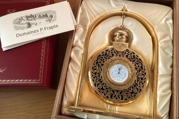 Ce Cognac-Horloge est la pièce la plus onéreuse de la vente