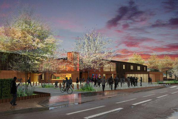 L'entrée des nouveaux locaux de La Vapeur, telle qu'elle a été imaginée au lancement du chantier.