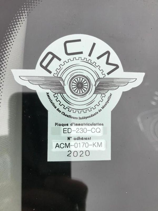 Macaron de l'Association des Chauffeurs Indépendants de Montpellier
