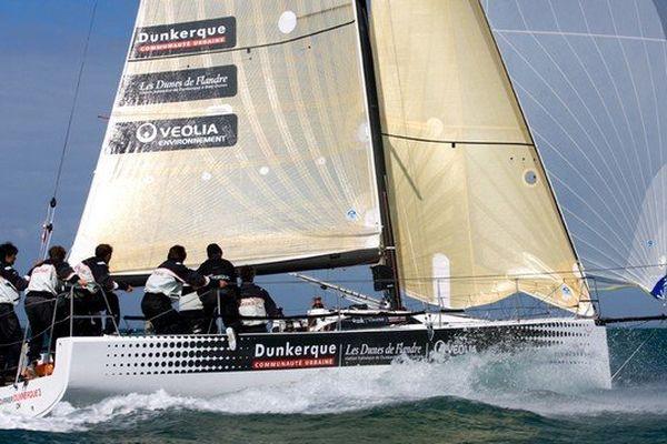 """L'équipage du """"Courrier Dunkerque 3"""" finit 2ème au tour de France à la voile."""