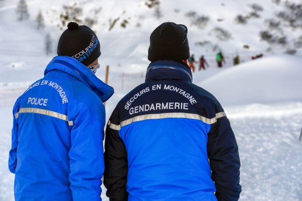 Deux secouristes du PGHM à Argentière (Haute-Savoie) le 19 janvier 2021.