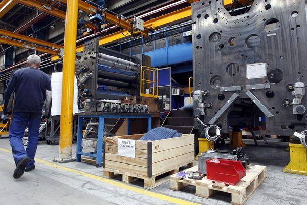 Goss International France, fabricant de machines d'imprimerie, ici à Montataire dans l'Oise