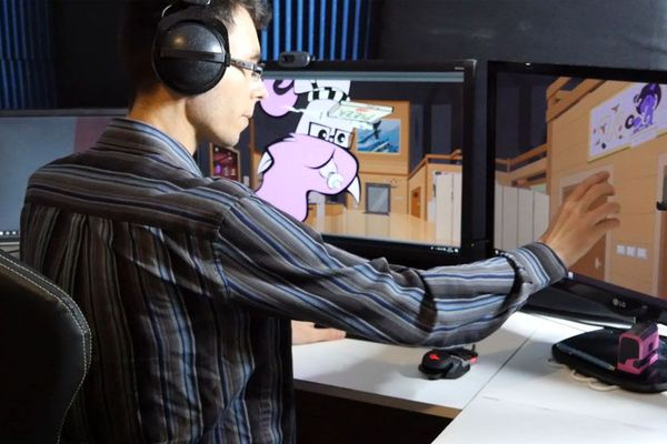Jérémie, alias OhPonyBoy, travaille pour le moment depuis chez lui, où il s'est aménagé un studio.