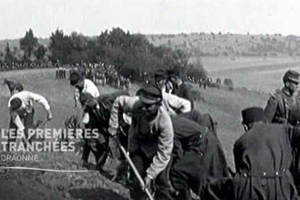Les premières tranchées dans l'Aisne