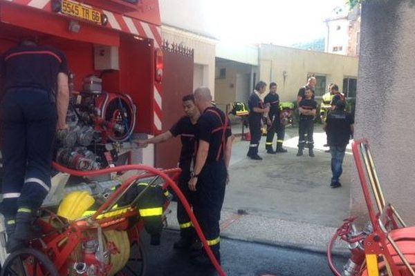 20 pompiers mobilisés à Céret