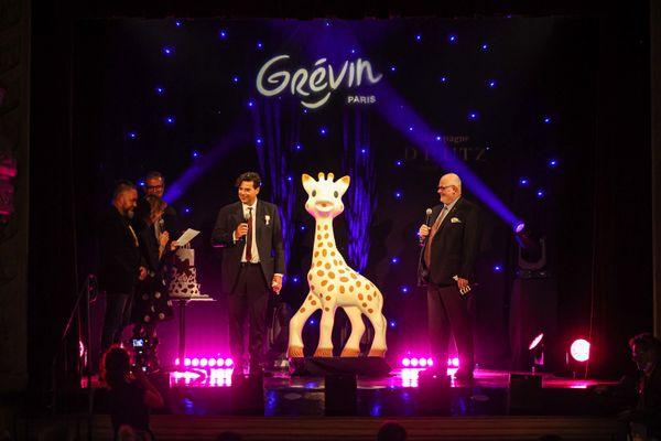Inauguration de la statue de Sophie La Girafe ce mercredi 22 septembre 2021 au musée Grévin à Paris.