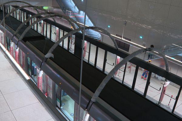 Pont Cardinet, l'une des quatre nouvelles stations, le mardi 1er décembre.