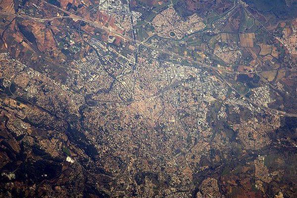 Montpellier vue depuis la station spatiale internationale - janvier 2017.