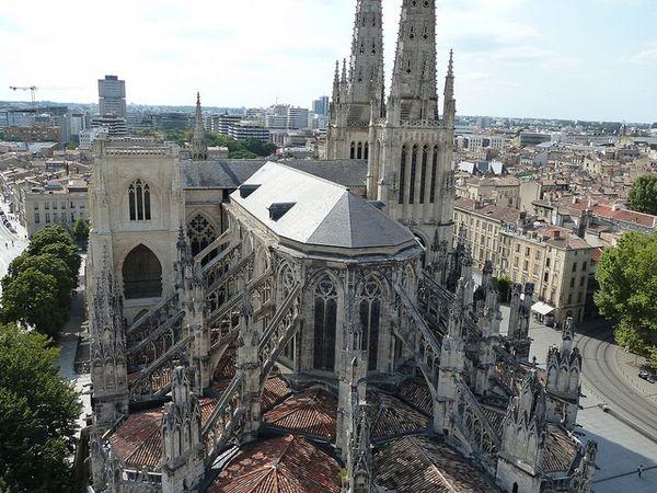 Cathédrale Saint-André de Bordeaux, vue depuis la tour Pey Berland