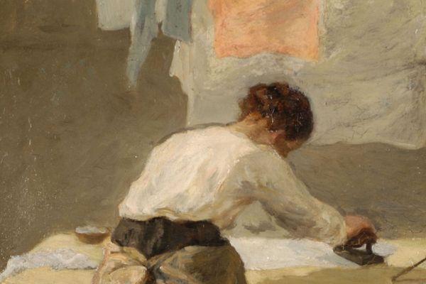 """Les repasseuses d'A.Gautier ne seront visibles que le 11 juillet au Musée des Beaux Arts de Caen dans l'exposition """" Les villes Ardentes"""""""