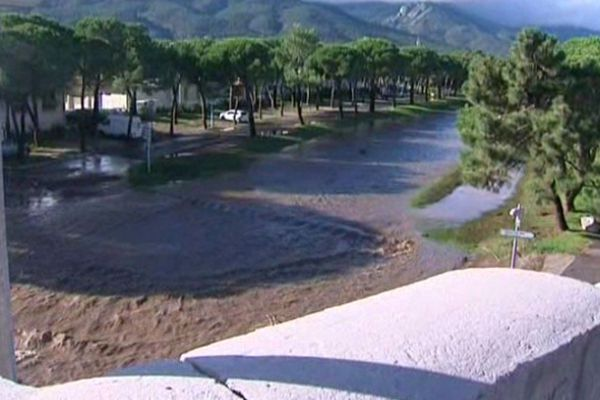A Argelès-sur-Mer, la Massane est sortie de son lit