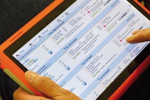 Ted (Tablette pour l'éducation digitale) a été conçu par la société Unowhy, qui a déjà à son actif la tablette culinaire Qooq.