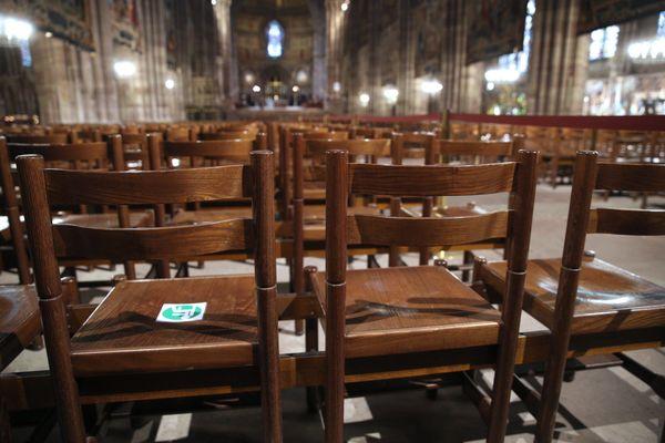 A la cathédrale de Strasbourg, comme dans tous les lieux de culte, on s'organise pour mettre en place des offices distanciés