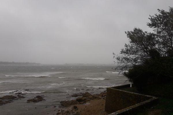 Coup de vent Larmor-Plage le 2 octobre 2021