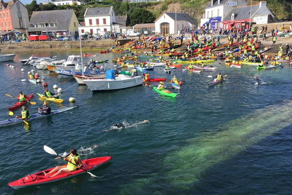 Le défi des Courreaux a rassemblé 145 nageurs et des kayakistes qui les accompagnent