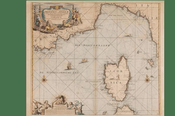 Une carte de la Corse par Iohannes van Keulen (1700)