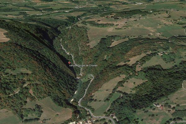 Le canyon des gorges de Chailles
