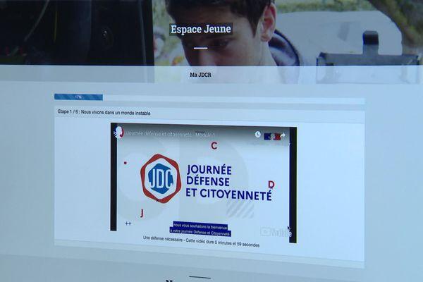 Au cours de leur JDC virtuelle, les jeune doivent réaliser différents modules.
