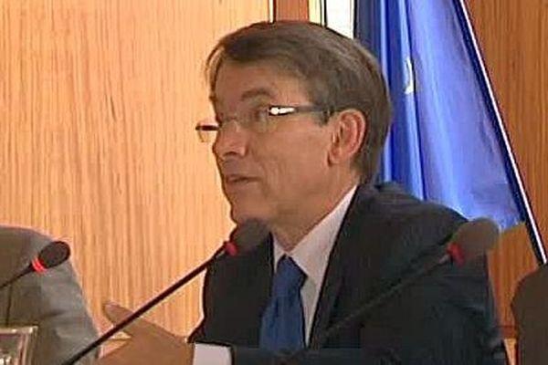 Emmanuel Barbe lors d'une visite à Montpellier en août 2016.