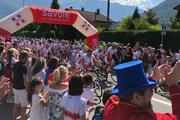 Jeudi 28 juin, 200 coureurs ont pris le départ de la Sapaudia, une course caritative qui relie Albertville et Monaco