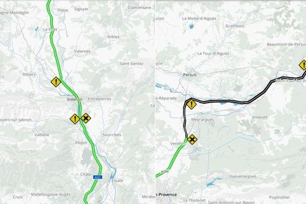 Deux tronçons de l'autoroute A51 ont été fermés jeudi 31 janvier en raison d'actes de malveillance.