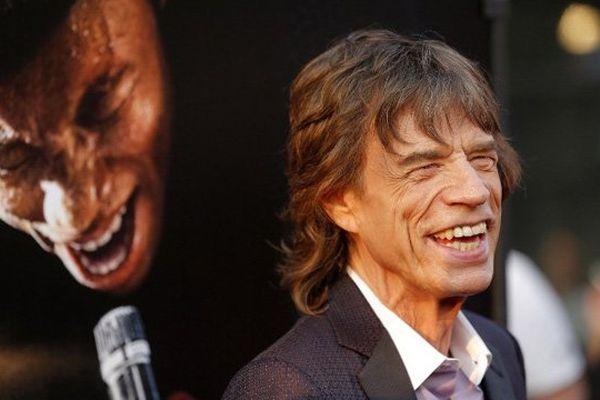 """Mick Jagger, lors de la première du film """"Get on up"""" à New-York le 21 juillet dernier"""