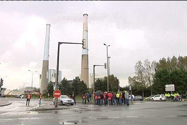 Octobre 2016- Manifestation pour le maintien de la centrale thermique du Havre
