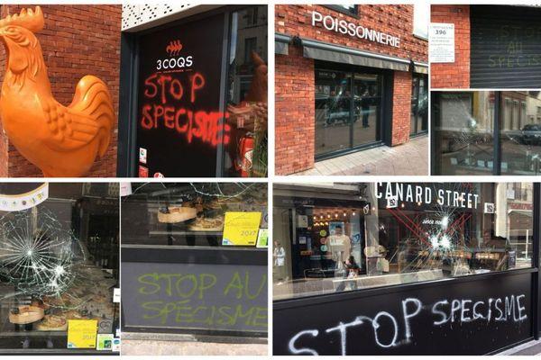 Le président du syndicat comptait réagir pour parer les détériorations de commerces commises par des militants vegans.