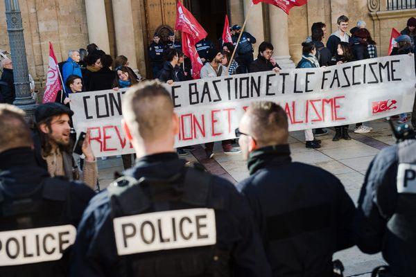 Une manifestation contre le Bastion social à Aix-en-Provence, le 12 février dernier.