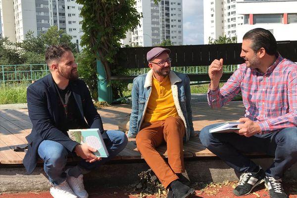 """Mourad Benchellali, Jérémy Drès, Nizar Sassi à Lyon pour la sortie du roman graphique """"Le jour où j'ai rencontré Ben Laden"""""""
