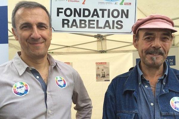 Ephrem Salamé, responsable de l'unité de transplantation hépatique au CHU Trousseau et Pierre-Gilles Magnin, transplanté du foie en 2013. Ils seront au départ des 10 kms de Tours dimanche.