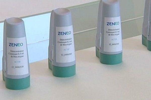 La société Crossject a conçu un dispositif d'auto-injection de médicaments sans aiguille baptisé Zeneo.